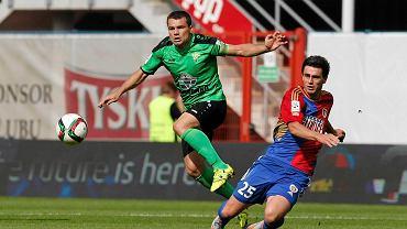 Kamil Vacek podczas meczu z Górnikiem Łęczna