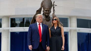Donald Trump z wizytą w Narodowym Sanktuarium Świętego Jana Pawła II w Waszyngtonie