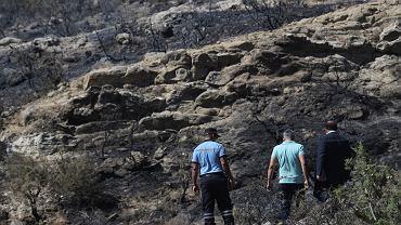 Miejsce eksplozji pocisku na terenie Cypru Północnego.