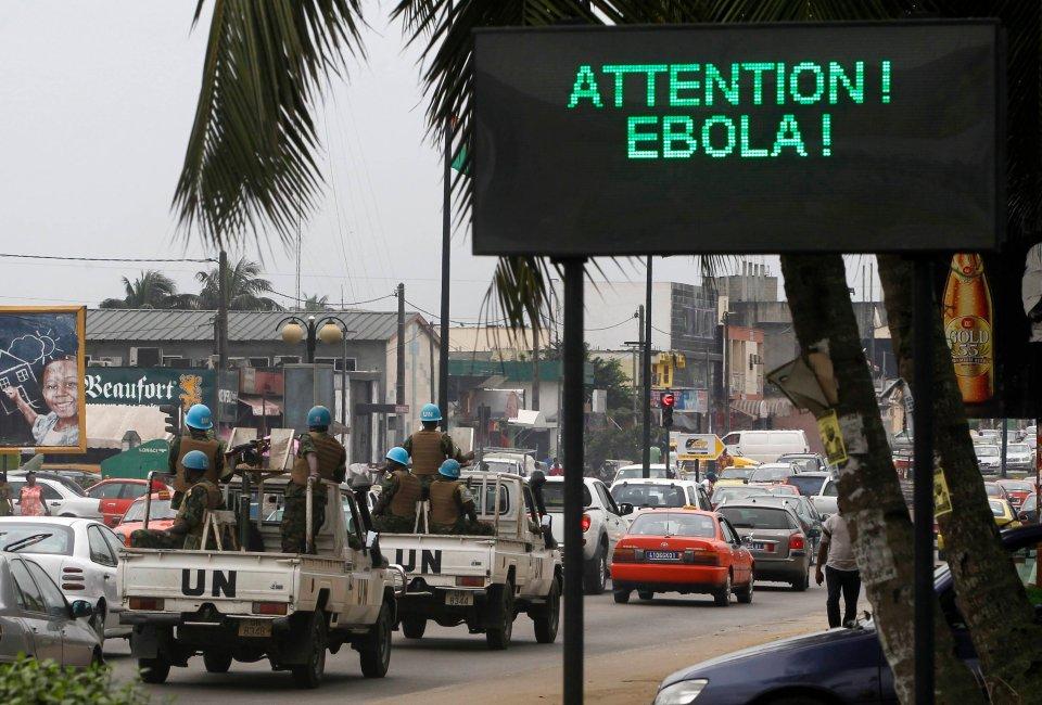 Ostrzeżenie przed epidemią eboli w Abidżanie.
