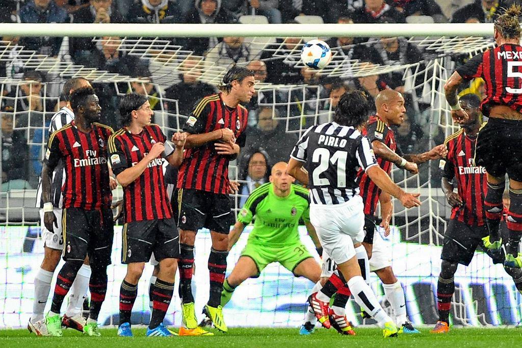 Juventus w ligowym meczu z AC Milan