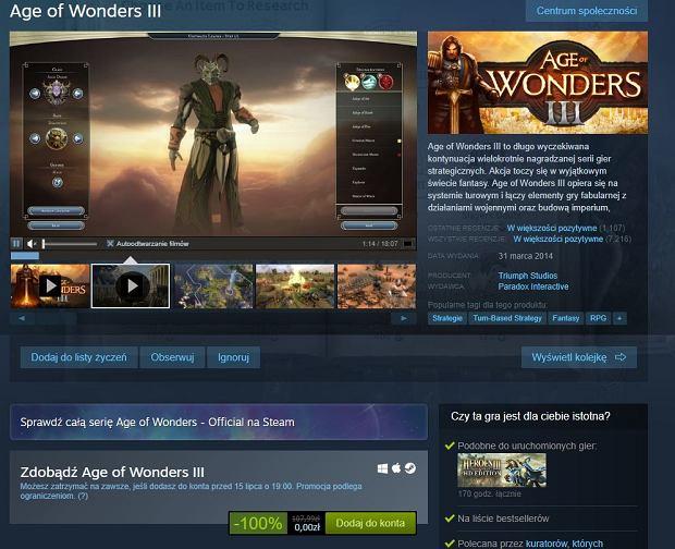 Age of Wonders III za darmo