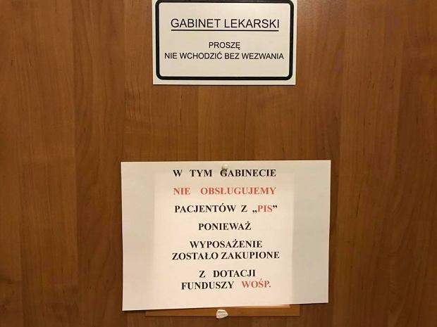 Nie chce leczyć pacjentów z PiS