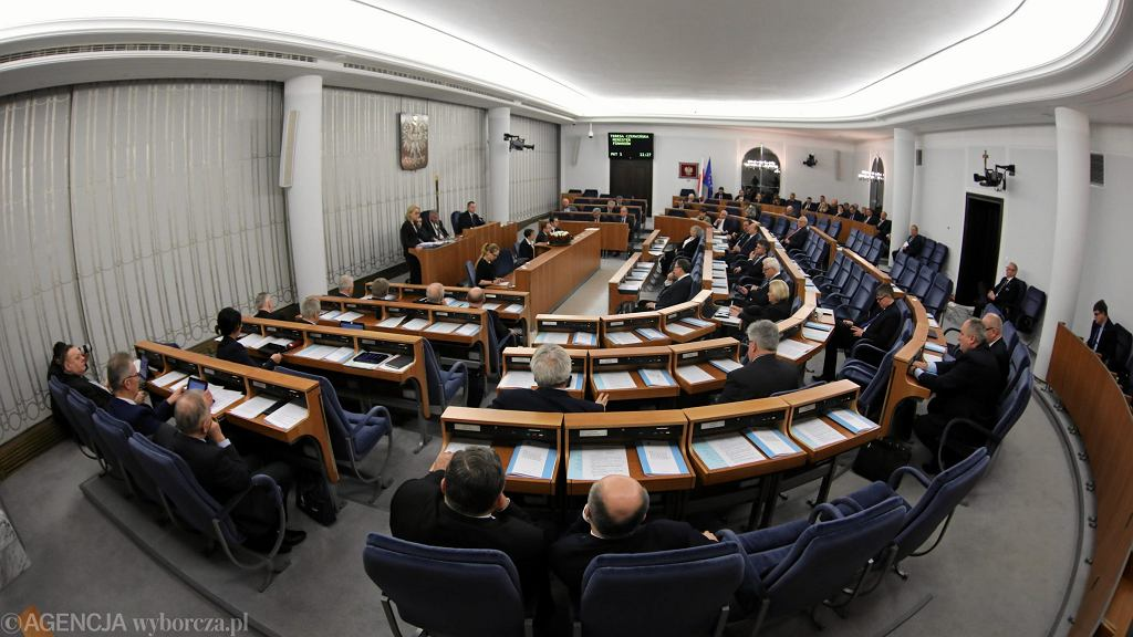 Debata budżetowa w senacie, 17 stycznia 2018.