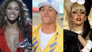 Beyonce, Chris Brown, Lady Gaga.