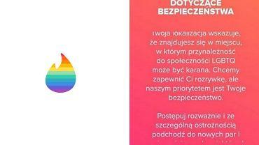Tinder ostrzega turystów LGBT przed szukaniem par w Polsce