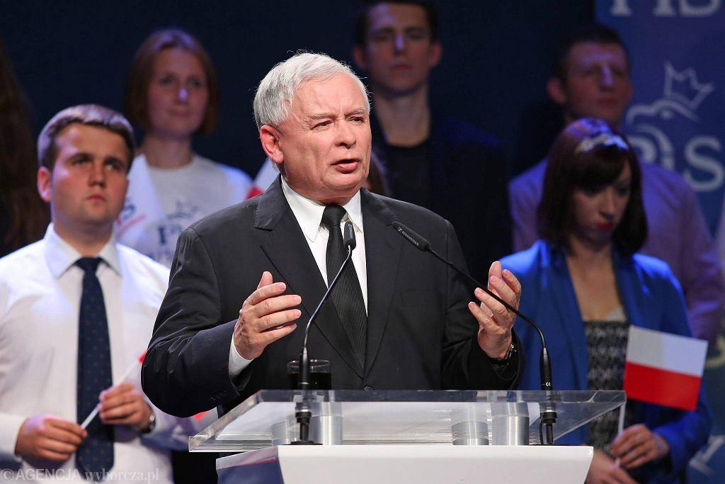 Kongres PiS w Krakowie. Jarosław Kaczyński