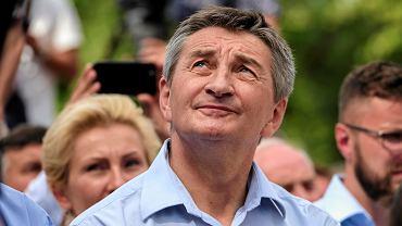Marek Kuchciński podczas Pikniku Rodzinnego w Stalowej Woli