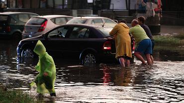 Skutki ulewy w Krakowie