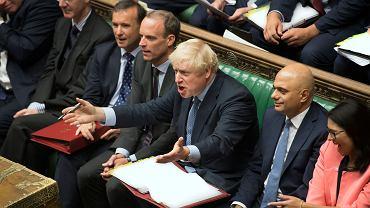 4.09.2019, Londyn, debata w Izbie Gmin, na zdjęciu premier Wielkiej Brytanii Boris Johnson