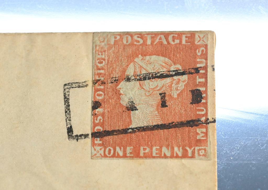 'Czerwony Mauritius' - znaczek pocztowy