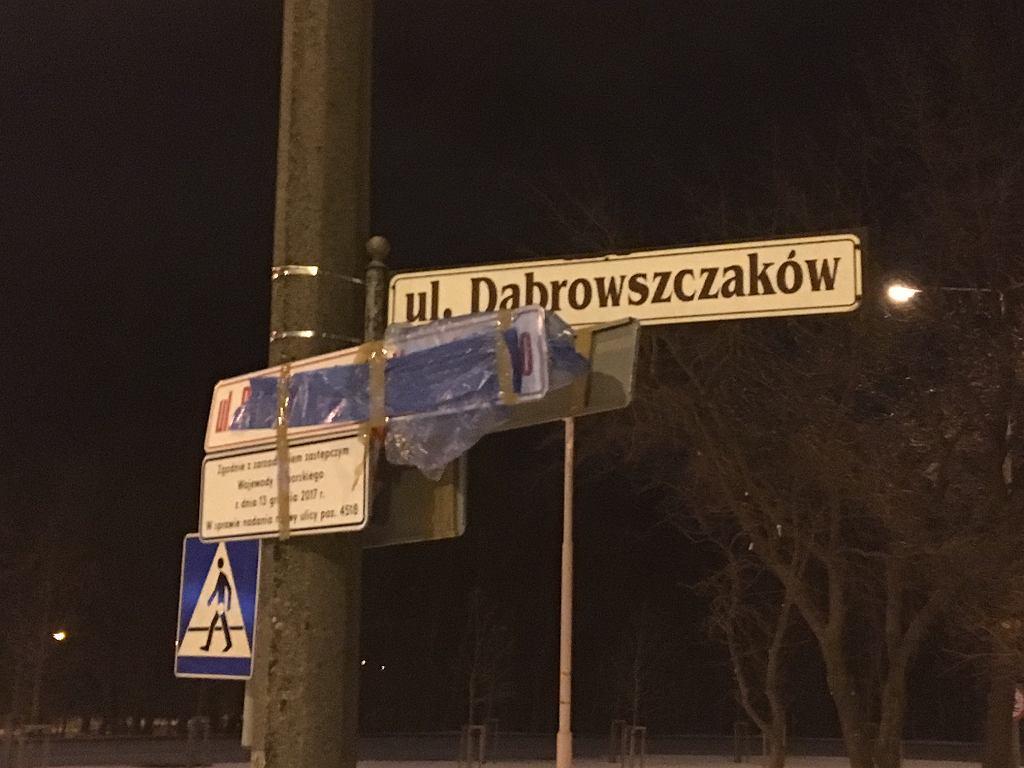 Ulica Dąbrowszczaków zamiast ulicy Kaczyńskiego. Wojewódzki sąd administracyjny uchylił zarządzenia zastępcze wojewody