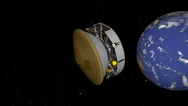 Misja Mars 2020 w drodze na Marsa - wizualizacja