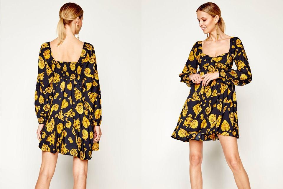 Złota sukienka Versace Jeans zachwyca!