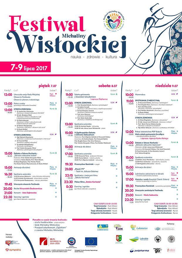 Plakat promujący Festiwal Michaliny Wisłockiej