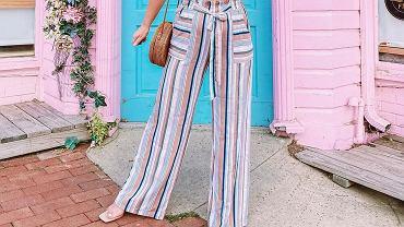 spodnie w paski, zdjęcie ilustracyjne