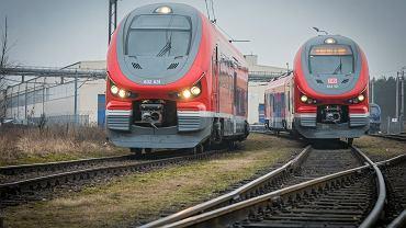 Pociąg Link w barwach Deutsche Bahn - produkcji zakładów Pesa. Bydgoszcz, 8 marca 2018