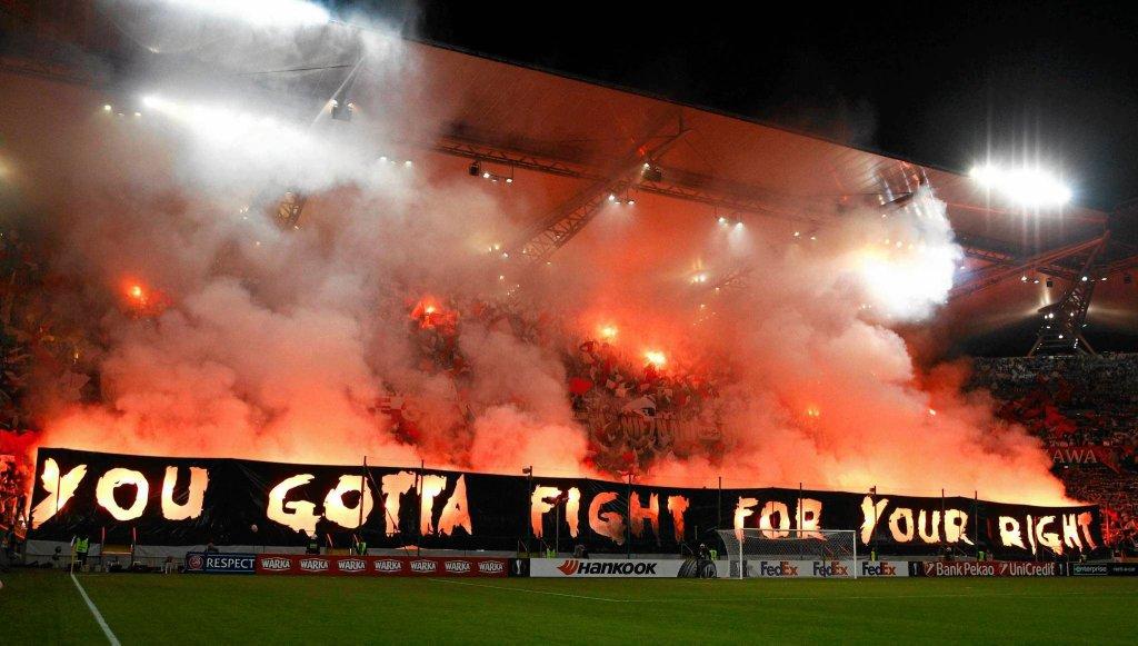 Oprawa w meczu Legia - Napoli