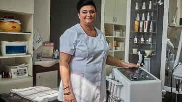 Sylwia Błaszczyk w swoim gabinecie