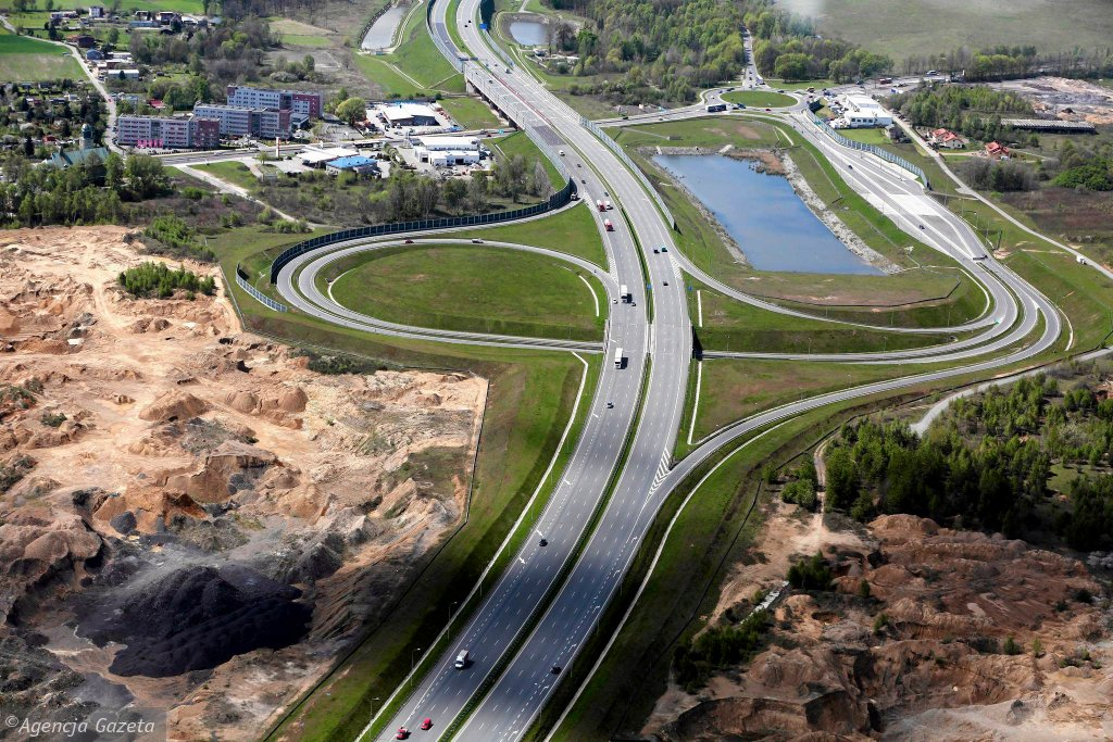 Widok na autostradę A1