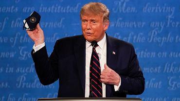 Donald Trump podczas debaty prezydenckiej