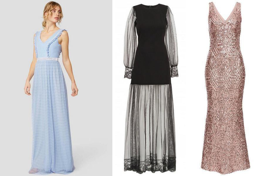 Długie sukienki to kreacje idealne na sylwestrowy bal