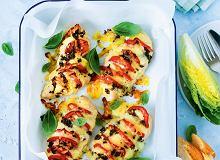 Piersi kurczaka zapiekane zpomidorami imozzarellą - ugotuj
