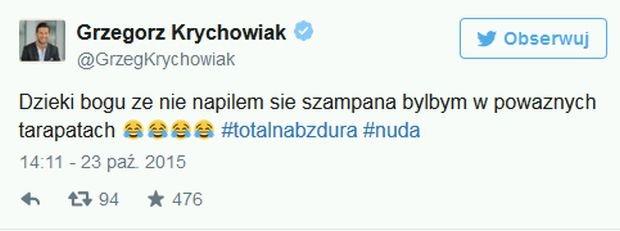 Grzegorz Krychowiak o aferze z szampanem