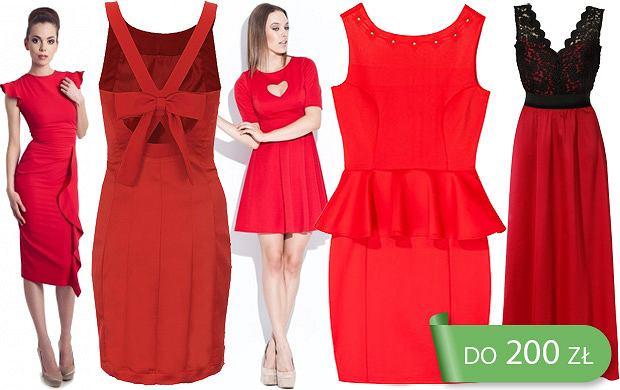 Sukienki w czerwonym kolorze do 200 zł
