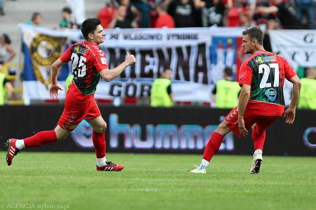 Stepan Hirśkyj w trakcie meczu GKS-u Tychy