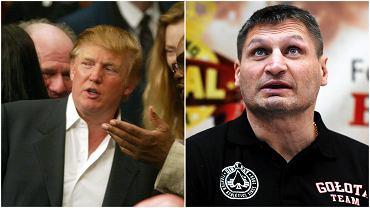 Donald Trump i Andrzej Gołota