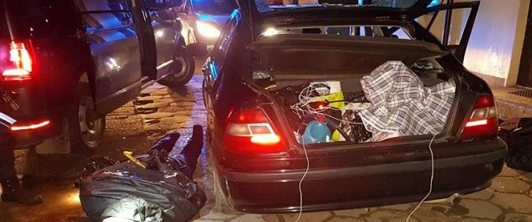 Wybuch bankomatu w Cegłowie. Przestępcy wpadli w policyjną zasadzkę