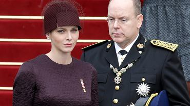 Księżna Charlene i książę Albert