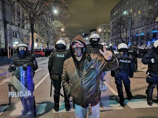 Jerzy Owsiak na protestach