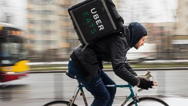 Kurier Uber Eats. Warszawa, 30 stycznia 2019