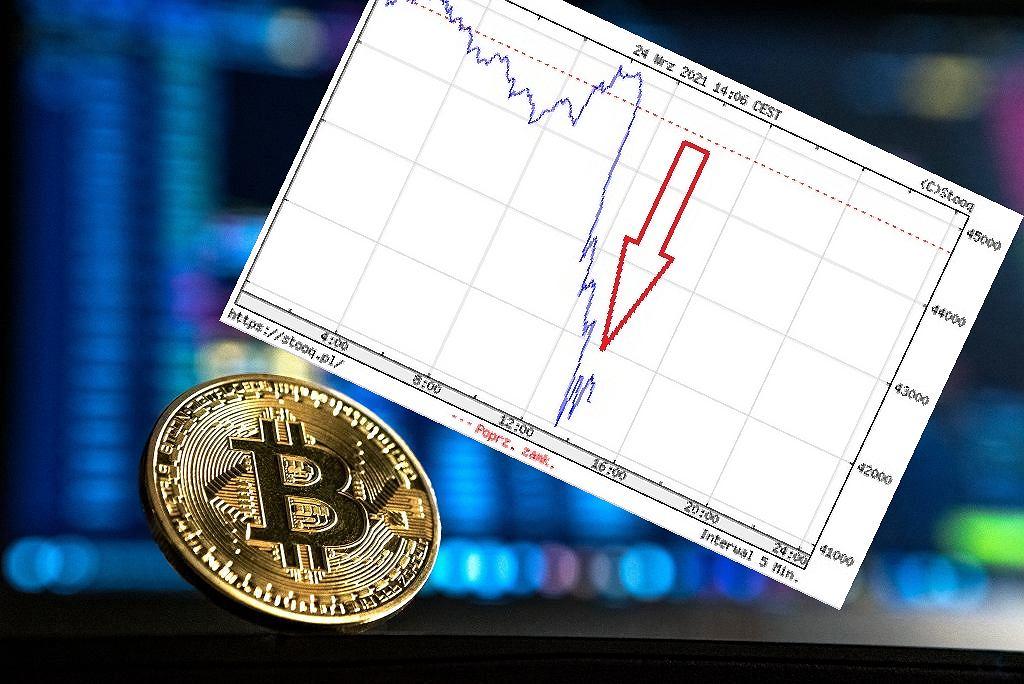 Bitcoin zalicza spadek (zdjęcie ilustracyjne)