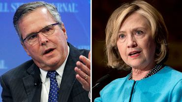 Jeb Bush, Hillary Clinton