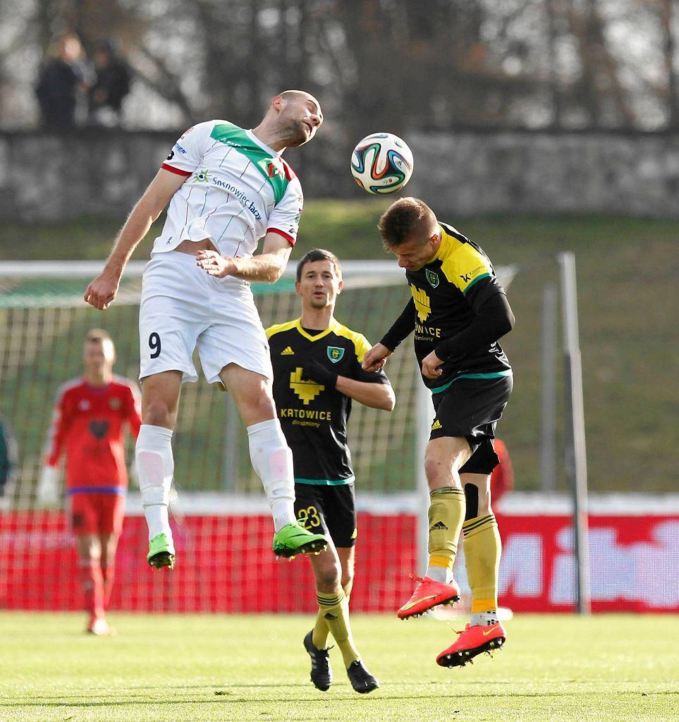 Zagłębie Sosnowiec - GKS Katowice 2:1. Michał Fidziukiewicz