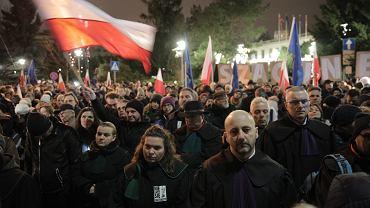Marsz Tysiąca Tóg - w obronie niezawisłości polskiego sądownictwa. Warszawa, 11 stycznia 2020