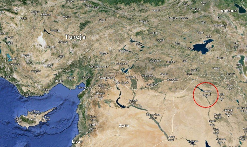 Wedle medialnych doniesień tureckie wojska dotarły w okolice Mosulu