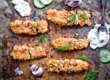 Domowe paluszki rybne z sosem tzatziki - ugotuj