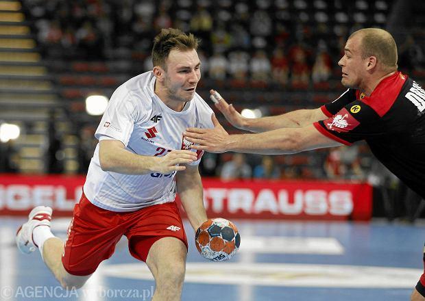 Arkadiusz Moryto podczas meczu Polska - Niemcy