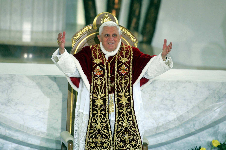 Benedykt XVI (Joseph Ratzinger) w Krakowie w 2006 roku (fot. Wojciech Olkuśnik / AG)