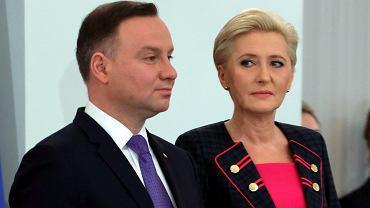 Prezydent Andrzej Duda z małżonką Agatą Kornhauser-Dudą.
