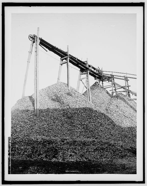 Sterty ostryg w Hampton, Virginia, początek XX wieku.