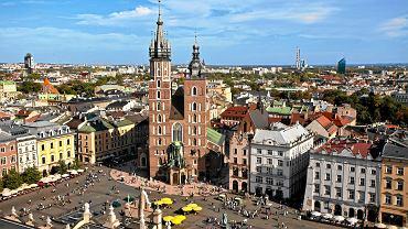 Kraków - Rynek Główny i Bazylika Mariacka