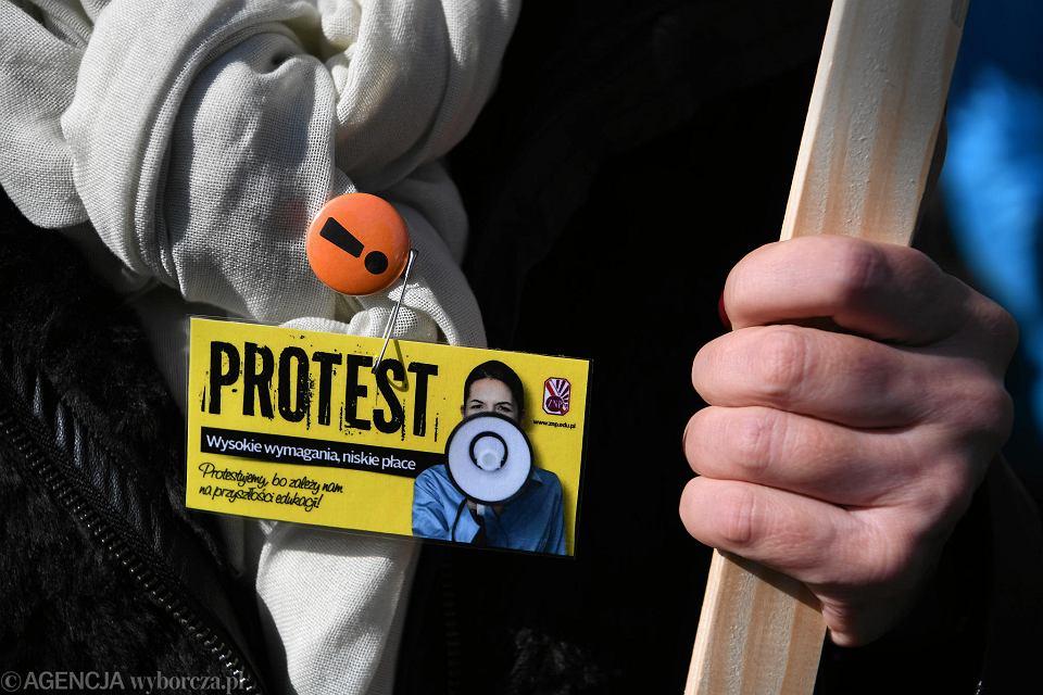 Strajk nauczycieli.