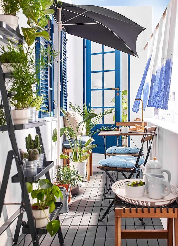 Drewniane meble na balkon