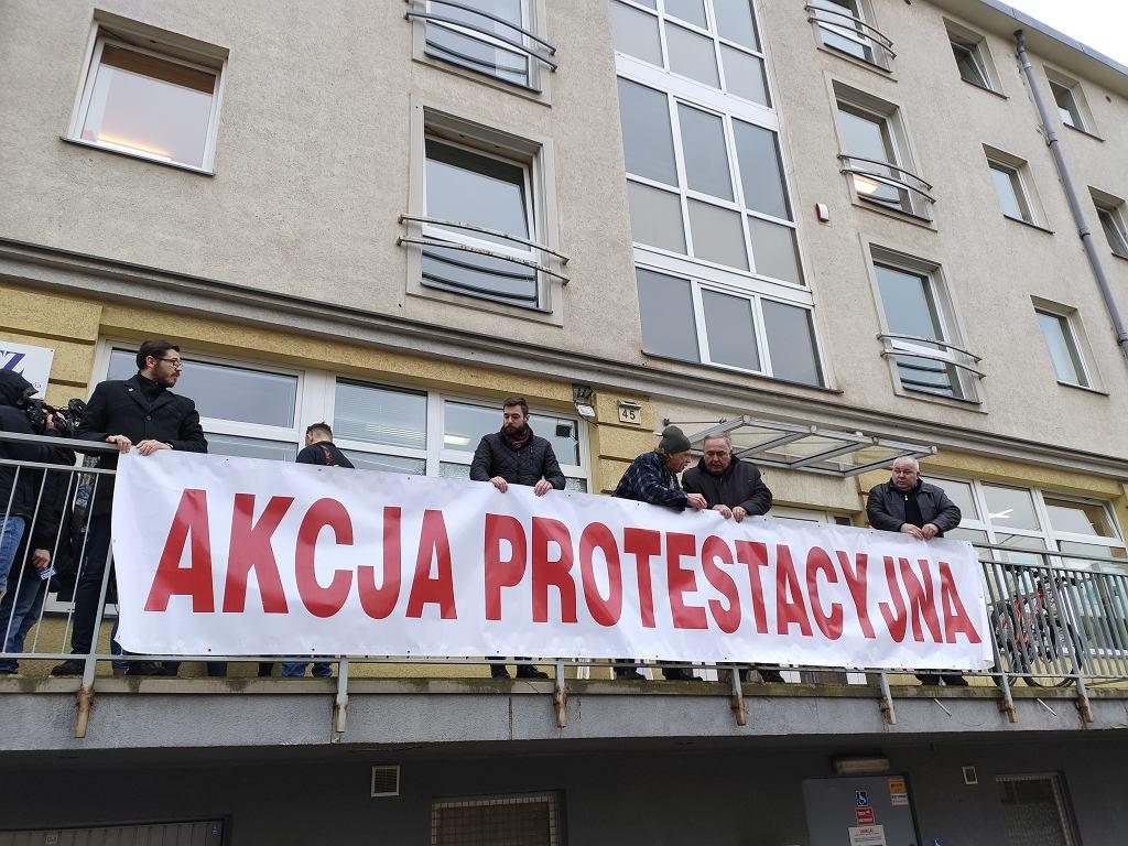 Związkowcy z Solidarności w Szczecinie