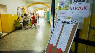 Strajk nauczycieli. Zdjęcie ilustracyjne